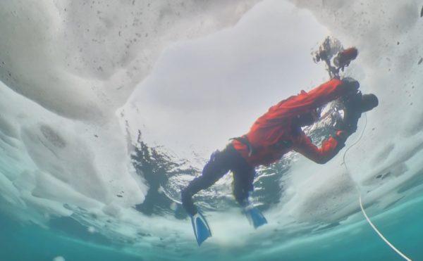 水中ドローンBW Space Pro 知床流氷